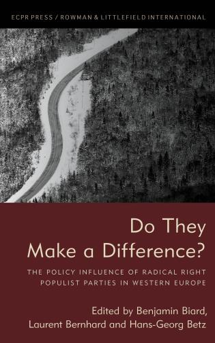 Cover image for the book Do They Make a Difference?: The Policy Influence of Radical Right Populist Parties in Western Europe