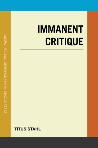 Cover Image of the book titled Immanent Critique
