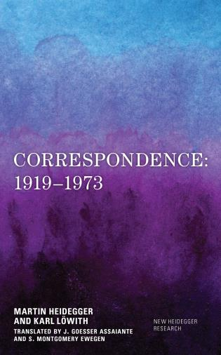 Cover Image of the book titled Correspondence: 1919–1973
