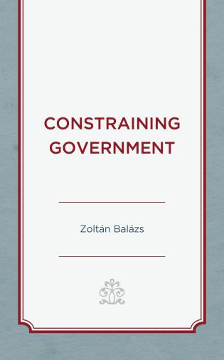 Cover image for the book Constraining Government