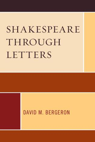 Cover image for the book Shakespeare through Letters