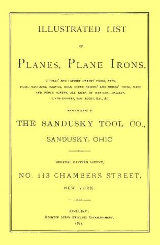 Cover image for the book Sandusky Tool Co. 1877 Catalog