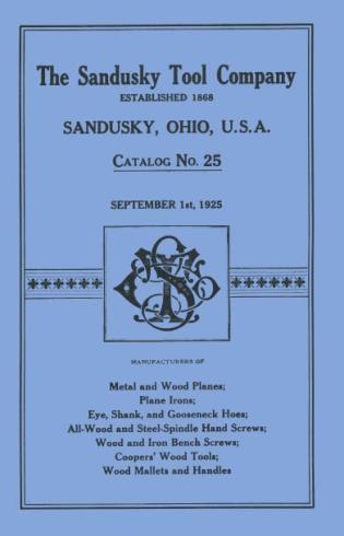 Cover image for the book Sandusky Tool Co. 1925 Catalog: Catalog No. 25, September 1st, 1925