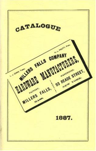 Cover image for the book Millers Falls Co. 1887 Catalog