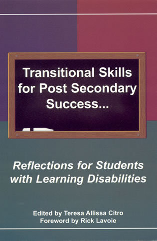 Cover image for the book Transitional Skills for Post Secondary Success: Reflections for Students with Learning Disabilities