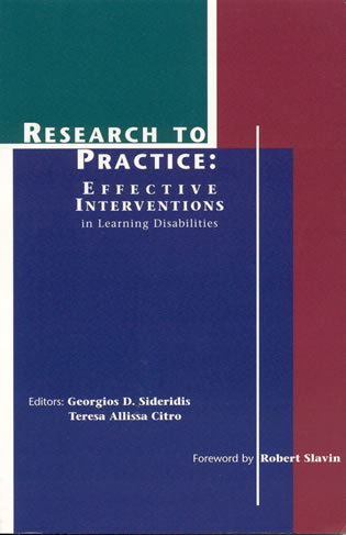 Cover image for the book Research to Practice: Effective Interventions in Learning Disabilities