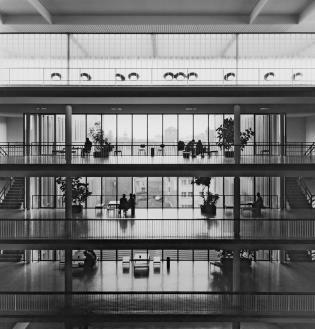 Otto Ernst Schweizer, Kollegiengebäude II, Universität Freiburg