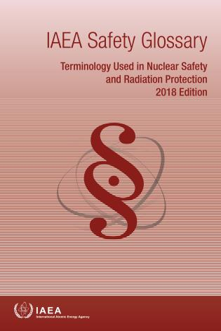 Cover image for the book IAEA Safety Glossary, 2018 Edition