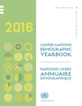 Cover image for the book United Nations Demographic Yearbook 2016, 67th Edition