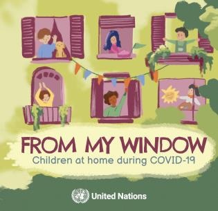 Cover image for the book From My Window: Children at Home During COVID 19