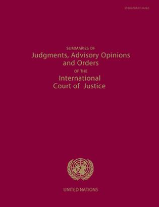 Cover image for the book Summaries of Judgments, Advisory Opinions and Orders of the Permanent Court of International Justice