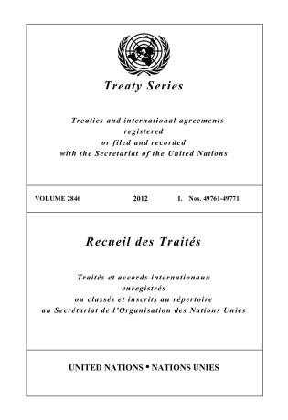 Cover image for the book Treaty Series 2846