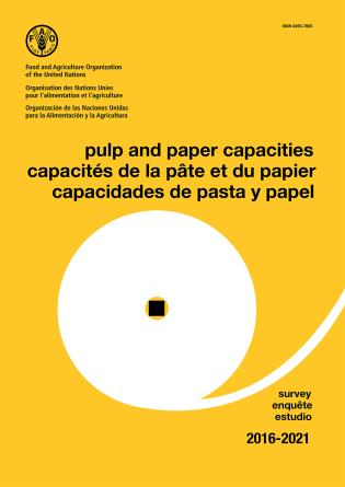 Cover image for the book Pulp and Paper Capacities: Survey 2016-2021