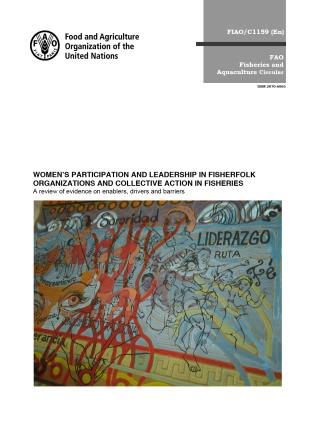 Cover image for the book Women's Participation and Leadership in Fisherfolk Organizations and Collective Action in Fisheries: A Review of Evidence on Enablers, Drivers and Barriers