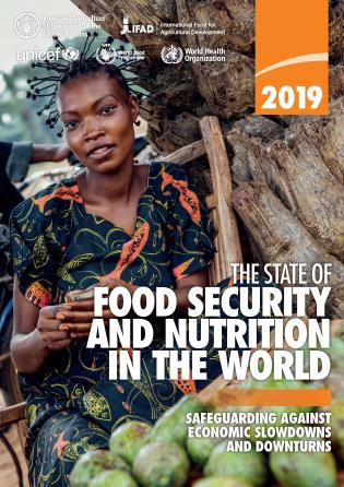 Cover image for the book The State of Food Security and Nutrition in the World 2019: Safeguarding against economic slowdowns and downturns