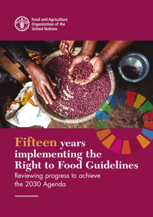 Cover image for the book Fifteen Years Implementing the Right to Food Guidelines: Reviewing Progress to Achieve the 2030 Agenda