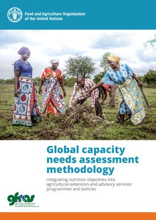 Cover image for the book Global Capacity Needs Assessment Methodology: Integrating nutrition objectives into agricultural extension and advisory services programmes and policies