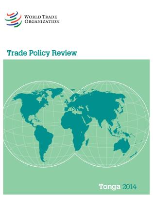 Cover image for the book Trade Policy Review - Tonga: 2014