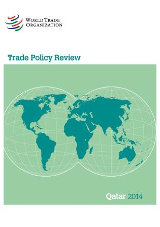 Cover image for the book Trade Policy Review - Qatar: 2014