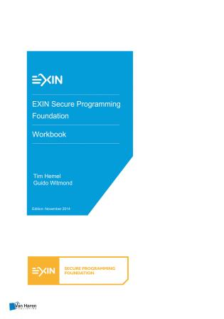 Cover image for the book EXIN Secure Programming Foundation - Workbook