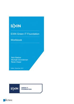 Cover image for the book EXIN Green IT Foundation - Workbook