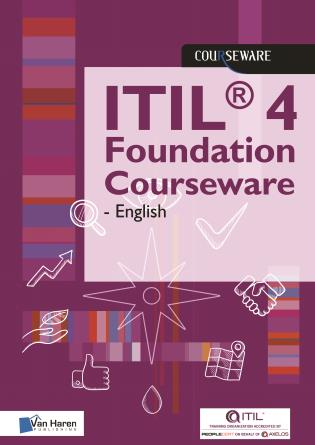 Cover image for the book ITIL® 4 Foundation Courseware - English