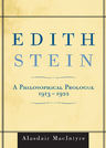link and cover image for the book Edith Stein: A Philosophical Prologue, 1913-1922