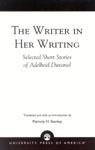 link and cover image for the book The Writer in Her Writing: Selected Short Stories of Adelheid Duvanel