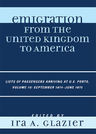 link and cover image for the book Emigration from the United Kingdom to America: Lists of Passengers Arriving at U.S. Ports, September 1874 - June 1875, Volume 10
