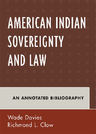 link and cover image for the book American Indian Sovereignty and Law: An Annotated Bibliography