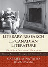 link and cover image for the book Literary Research and Canadian Literature: Strategies and Sources