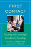 link and cover image for the book First Contact: Teaching and Learning in Introductory Sociology