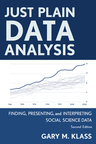 link and cover image for the book Just Plain Data Analysis: Finding, Presenting, and Interpreting Social Science Data, 2nd Edition