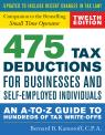 link and cover image for the book 475 Tax Deductions for Businesses and Self-Employed Individuals: An A-to-Z Guide to Hundreds of Tax Write-Offs, Twelveth Edition