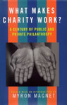 link and cover image for the book What Makes Charity Work?: A Century of Public and Private Philanthropy