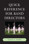 link and cover image for the book Quick Reference for Band Directors