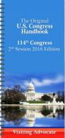 link and cover image for the book The Original U.S. Congress Handbook: 114th Congress, 2nd Session, 2016 Visitor/Advocate Edition